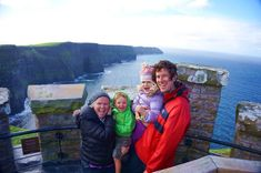The Bender Family at The Cliffs of Moher, Ireland. Travelling with My Kids Changed Me- #travellingwithkids #worldschooling Pinned by Curvy Mama
