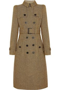 wool tweed trench coat ++ burberry prorsum