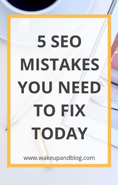 If you're not getting much organic traffic you might be making some SEO mistakes. Find out how to fix them today. Search Engine Marketing, Seo Marketing, Online Marketing, Content Marketing, Marketing Websites, Online Advertising, Business Marketing, Business Tips, Online Business
