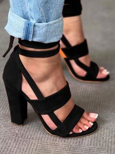f2e45f0f2133 Shop Fashion Solid Color Chunky Heeled Sandals – Discover sexy women  fashion at Boutiquefeel