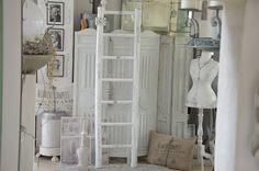 """Vintage Garderoben - Tolle alte Rundholzleiter """"shabby chic"""" - ein Designerstück…"""
