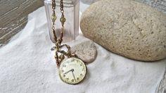 Steampunk Vintage Watch Necklace by ajunkersjournal on Etsy