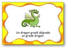 """Virelangue """"Un dragon gradé"""""""