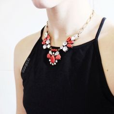 Vintage-inspired Red Statement Necklace #happinessbtq