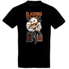 Slashing Cat fekete póló Halloween, Mens Tops, T Shirt, Supreme T Shirt, Tee Shirt, Halloween Stuff, Tee