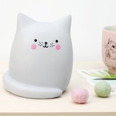Lampe veilleuse LED chat kawaii