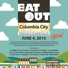 The 7th Annual Eat Out Columbia City benefiting Country Doctor Community Health Centers is all day TODAY! CHPW is a proud sponsor of this event and we encourage everyone is the Columbia City area to stop in and have a bite!
