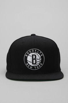 Mitchell & Ness Standard Brooklyn Nets Snapback Hat #urbanoutfitters