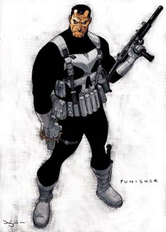 Punisher by Jason Pearson ★ || CHARACTER DESIGN REFERENCES | キャラクターデザイン • Find more artworks at https://www.facebook.com/CharacterDesignReferences & http://www.pinterest.com/characterdesigh and learn how to draw: #concept #art #animation #anime #comics || ★