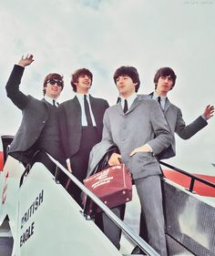 Beatles arriving in the USA