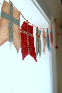 Bunting - especially love the shape and the cross on this one.