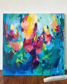 How to Make Your Acrylics Look Like Oils — Amira Rahim Acrylic Artwork, Abstract Canvas Art, Painting Abstract, Acrylic Painting Canvas, Acrylic Flowers, Abstract Flowers, Starry Night Art, Acrylic Painting Inspiration, Oil Pastels