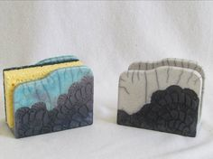porte éponge dentelles décoratif raku original céramique grès fait main artisanal Jean-Pierre et Danièle Meyer