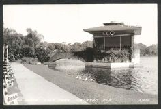 the bandshell at Lake Eola in the 1920s...