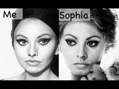 "ALY ART Sophia Loren Makeup Tutorial MY INSTAGRAM alyonayarushina The music track I'm using here is my cover version on ""Ain't no mountain high enough"". Foun..."