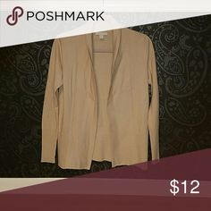 Cream Colored Open Front Cardigan Super comfortable open front, shawl colar cardigan from New York & Company.  Layer and add a contrasting belt.  Great for a work wardrobe or casual outfits.  Wear with dress slacks, jeans, skirts, or even dresses.  Worn only once. New York & Company Sweaters Cardigans