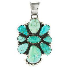 Gem Insider® Sterling Silver Carico Lake & Fox Turquoise Handmade Pendant