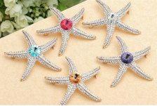 Starfish Rhinestone applique, Sea Star Brooches, See Star Crystal Brooches, Star Fish Rhinestone Brooches, Sea Star diamante applique