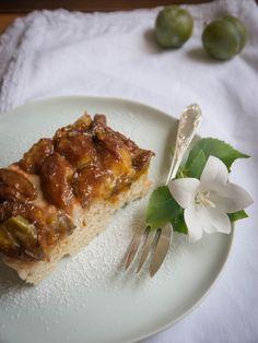 Reineclauden Kuchen mit Marzipan.. Jetzt auf dem Blog