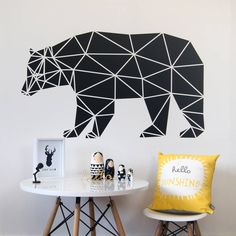Geometric Bear Wall Sticker