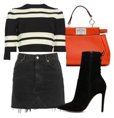 """Untitled #70"" by indddy ❤ liked on Polyvore featuring Fendi, A.L.C., Topshop and ALDO"
