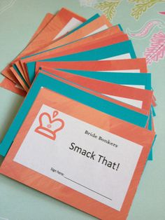Bachelorette Party Game- Coral and Aqua- Bach Party Game.