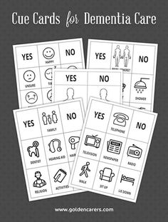 Cue cards are visual tools that can be used to overcome communication difficulties with clients living with dementia. They assist and support caregivers, staff and volunteers to engage with the person in their care.