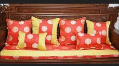 Chinese style embroidered red throw pillows for wedding room sofa ...