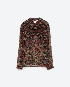Image 8 of PRINTED BLOUSE WITH FRILLS from Zara