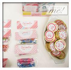 Personalizamos las golosinas para que cada detalle de este mágico candybar tenga la marca registrada de la agasajada. hola@invita-me.com.ar