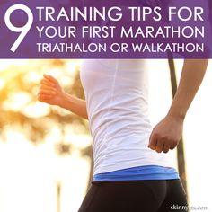 9 Training Tips for Your First Marathon, Triathlon, or Walkathon