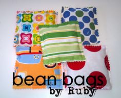 SewSara: Bean Bags by Ruby - Easy sewing project for kids!