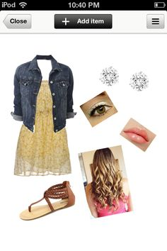 Cute fall and spring look. Perfect for the first day of school. Very girly...