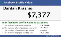 My Facebook Value.