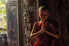Buddhist novice praying at Shwenandaw pagoda, mandalay, myanmar by thananit suntiviriyanon on Buddha Life, Buddha Quote, Buddha Art, Buddha Meditation, Buddha Buddhism, Buddhist Monk, Buddha Temple, Buddha Painting, Mandalay