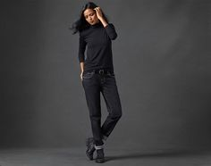 Free Standard Shipping $250+ Shop Women's Fashion - EILEEN FISHER boyfriend jean vintage black