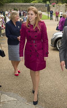 Princess Beatrice took a short trip across the Channel on Monday for a special visit to the Isle of Wight:  Princess Beatrice arrives at Carisbrooke Castle 16 June 2014