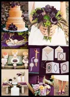 The Eggplant & Apricot Wedding Theme is one I have dreamed of since I was little!!