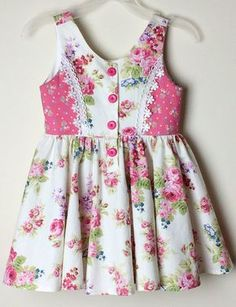 Items similar to Girls Floral Dress ~ size 3 ~ pink/white roses, toddler dress, party dress, cotton dress on Etsy Floral Dress for Girls size 3 pink/white roses Frocks For Girls, Little Girl Dresses, Girls Dresses, Baby Girl Dress Design, Girls Frock Design, Baby Frocks Designs, Kids Frocks Design, Kids Dress Wear, Baby Girl Dress Patterns