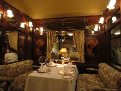 orient express interior - Material for motorhome seating. Orient Express Train, Simplon Orient Express, Locomotive, Rail Car, Old Trains, Train Tracks, Travel Images, Beautiful Interiors, Writing Inspiration