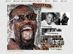 Creation web Eriq Ebouaney   (site de 2010) Photo Portrait, Portraits, Creations, Photos, Images, Movie Posters, Turning, Artist, Pictures