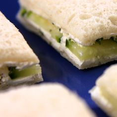 Cucumber and cream cheese finger sandwiches are a classic afternoon tea sandwich. This easy recipe is great for kids or adults.