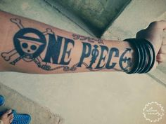 What does one piece tattoo mean? We have one piece tattoo ideas, designs, symbolism and we explain the meaning behind the tattoo. One Piece Tattoos, Pieces Tattoo, Tattoos For Guys, Cool Tattoos, Art Tattoos, Tatoos, Luis Tattoo, F Tattoo, Tattoo Quotes