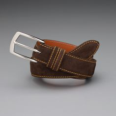 J.Hilburn Custom Belts are made for you and it makes such a unique gift. Choose from leather or suede, the color stitching and your size.