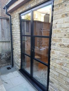 Crittall style replacement steel external doors- Crittall style replacement steel external doors Believe it or not. These doors are aluminium, and thermally broken. Great for that steel replacement but keeping the Crittall look - Aluminium French Doors, French Doors Exterior, External Doors, Modern Farmhouse Exterior, Exterior Doors, Crittall, House Extension Design, Door Inspiration, External French Doors
