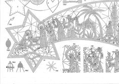 Billedresultat for bobbin lace Natal / Christmas Romanian Lace, Bobbin Lacemaking, Bobbin Lace Patterns, Thread Art, Point Lace, Theme Noel, Needle Lace, Lace Making, Simple Art