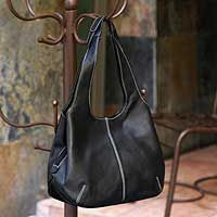 Leather shoulder bag, 'Urban Legend' from @NOVICA, They help #artisans succeed worldwide.