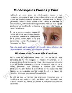 Miodesopsias Causas y Cura
