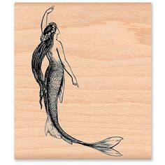 Items similar to MERMAID RUBBER STAMP~Two sizes Large or Small~ Ocean Mermaid Beach Stamp~Vintage Illustration~Wood Mounted Rubber Stamp ) on Etsy - The Effective Pictures We Offer You About tattoo for men A quality picture can tell you many thing - Cute Tattoos, Beautiful Tattoos, Black Tattoos, Small Tattoos, Tattoos For Guys, Xoil Tattoos, Forearm Tattoos, Tattoo Ink, Vintage Mermaid Tattoo
