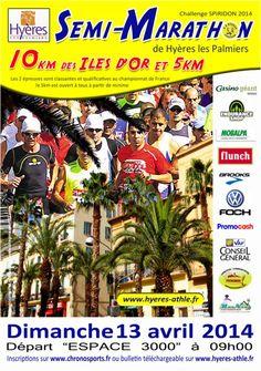 Semi-Marathon d'Hyères. Le dimanche 13 avril 2014 à Hyères.